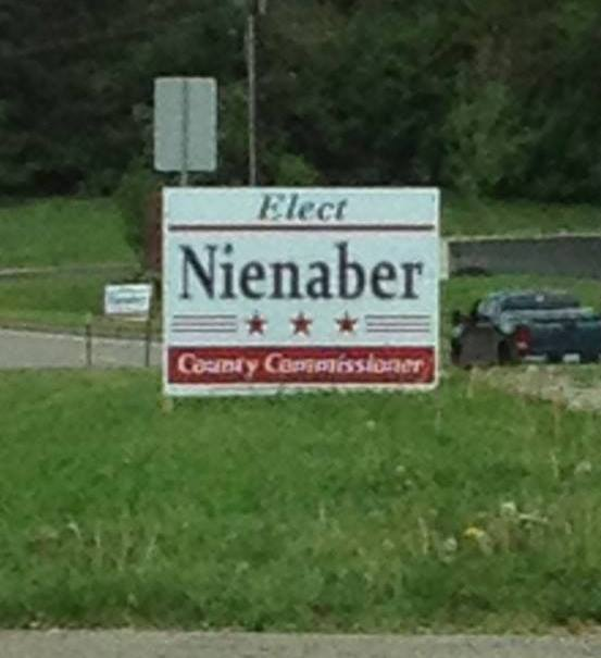 Nienaber Campaign Sign